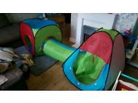 FREE play tents and tunnel