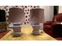 A beautiful matching pair of table lamps in excellent condition.
