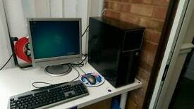 Intel Core 2 Duo Desktop with screen keyboard and mouse