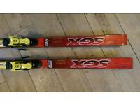Red Elan SGX Skis 210 cm with yellow Tyrolia racing bindings