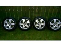 "Audi A4 16"" alloys and nearly new winter tyres"