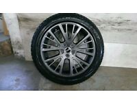 ALLOYS X 4 OF GENUINE 20 INCH RANGEROVER/DISCOVERY/FULLY POWDERCOATED INA NEW SPEC ANTHRACITE NICE