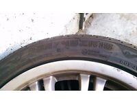 Genuine BMW 18'' alloy wheels with tyres - 225/45ZR18