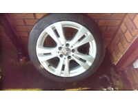 mercedes a class 2016 alloys and tyres