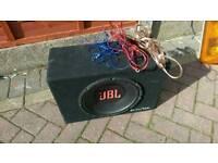 "Jbl 12"" subwoofer + 1200watt juice amp"
