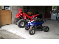 2 quads for sale 110cc and 50cc