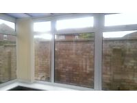 Vertical conservatory/home office track blinds - ivory/beige