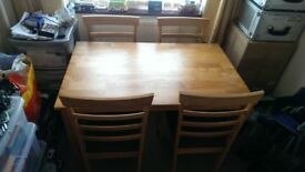 Julian Bowen Cleo Dining Table and 4 Chairs