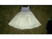 Lilac and Ivory bridesmaid dress 18-24 months
