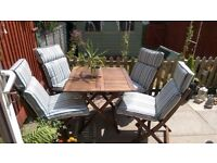 solid hardwood garden patio table chairs