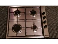 Brand New Candy Gas Hob Silver