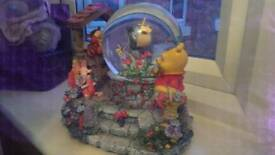 Authentic winnie the pooh musical snow globe