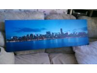 New York Blue Skyline Canvas Picture