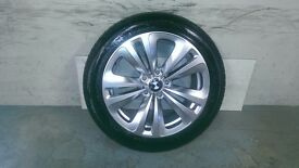 ALLOYS X 4 OF 18 INCH GENUINE BMW 6/SERIES/7/SERIES/234/STYLE/FULLY POWDERCOATED IN A SHADOW/CHROME