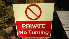 SIGN ,No Turning ,
