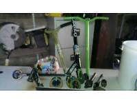 Scooter + parts + helmet