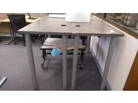2x Tall Tables /Workbenches and 1 corner table up for grabs