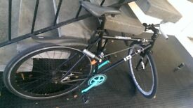 Single speed road bike, fixie with accessories