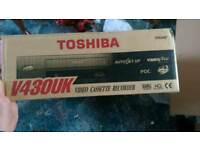 Vhs video cassette recorder. Boxed and unused.