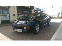 £1695 - 2005 '05' plate All Black Smart ROADSTER 80bhp Not Brabus - MOT jULY 2017 - Ready for Summer