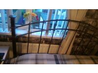 Double steel frame bed