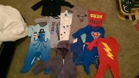 Boys 6-9 months bundle. Next, Babymoo, Superhero. Some items new!
