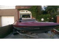 SPEED BOAT WITH 90HP MERCURY OUTBOARD AND TRAILER