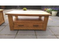 Pine Coffee Table with Drawer