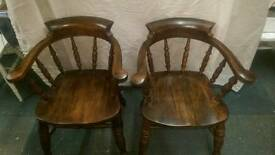 Beautiful pair of Smokers/Captains chairs