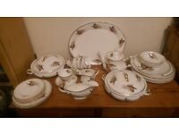 Sheridens China Dinner Service (pheasants)