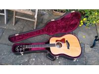 Taylor 510 acoustic guitar with ES2 pickup factory retro fitted