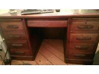 Large Antique Geogian Pedestal Desk - very good condition