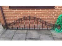 2x Wrought Iron Fence Panels (Railings) May also sell matching gate