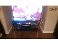 3 shelf glass & chrome tv stand