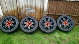 4 Tyres and wheels 205/45/16 5X100