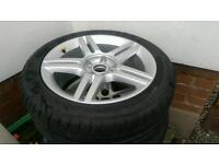 "2 off Genuine Audi 17"" Sline alloys with good tyres,a4 5x112,vw,skoda"