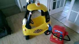 Little Tikes Cozy Cab Ride On and Petrol Pumper
