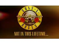 2x Guns n Roses Tickets