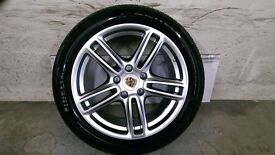 ALLOYS X 4 OF 19 INCH GENUINE PORSCHE/PANAMERA/FULLY POWDERCOATED IN A STUNNING SHADOW/CHROME NICE