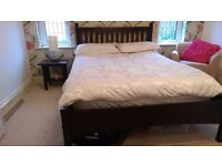 Double Bed Frame, Bed Side Table and Wardrobe