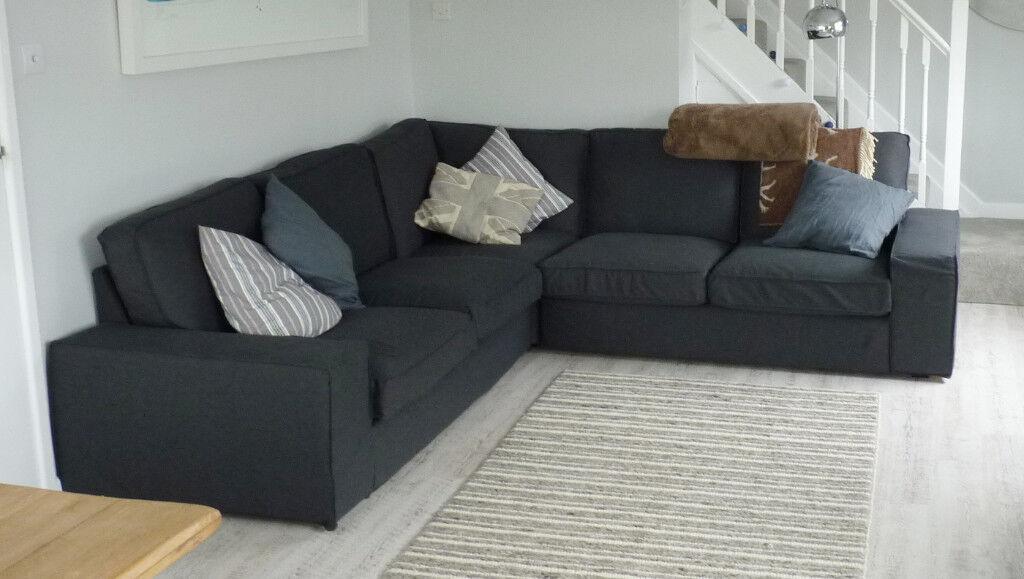 Superbe Ikea Kivik Corner Sofa (large 2.5m X 2.5m)