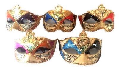 Half Mask Face Designs Mardi Gras Halloween Costume Accessory Adult Men Women - Half Woman Half Man Halloween Costume
