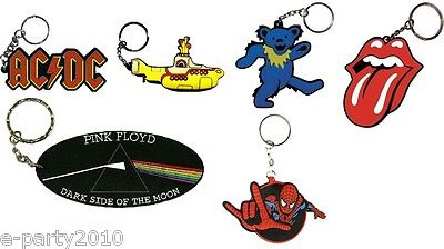 Classic ROCK & ROLL KEYCHAINS MARVEL FAVORS ~ Birthday Party Supplies Gifts (Classic Rock Birthdays)