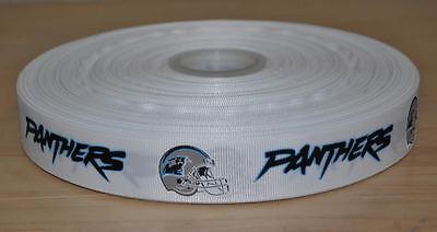 5 Yards of Carolina Panthers Grosgrain Ribbon-7/8 inch](Carolina Panthers Ribbon)