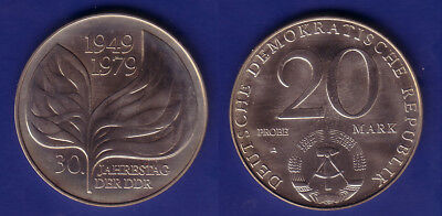 "20 M DDR 1979 ""Blatt-Probe"" selten"