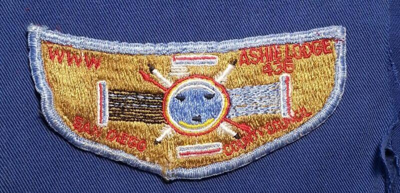 VINTAGE BSA ASHIE LODGE 436 VERY OLD CLOTH BACK POCKET FLAP  A01687