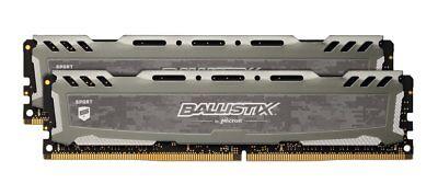 Crucial Ballistix Sport Lt 8Gb Kit 2X 4Gb Ddr4 2400 Mhz Pc4 19200 Desktop Memory