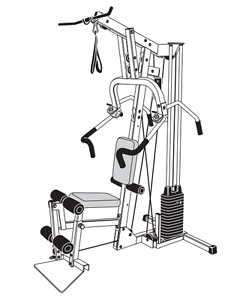 Precor Pacific Fitness Zuma Home Gym