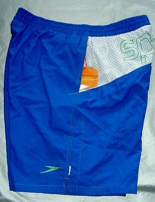 Speedo Swimwear Male Blue Airway Watershort With Back Logo And 19in Leg.mens Uk