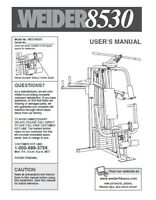 Weider 8530 personal home gym